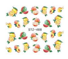 """Наклейки для ногтей """"Фрукты"""" STZ-488"""