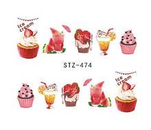 """Наклейки для ногтей """"Пироженки"""" YZW-474"""