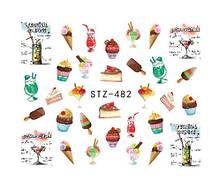 """Наклейки для ногтей """"Пироженки"""" YZW-482"""