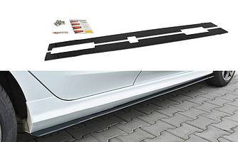 Сплиттер под пороги Ford Fiesta 8 ST-Line тюнинг обвес (V2)