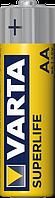Батарейка солевая Varta Superlife R6 AA пальчиковая (блистер)