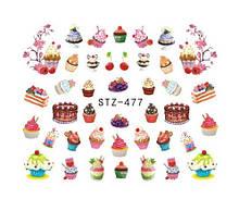 """Наклейки для ногтей """"Пироженки"""" YZW-477"""