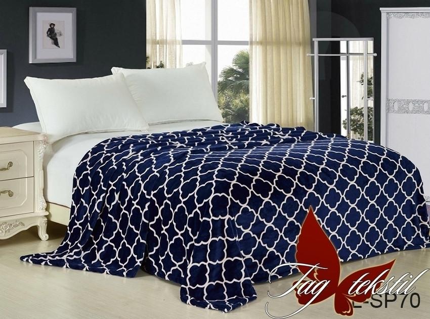 Плед покрывало 200х220 велсофт Эдем на кровать, диван