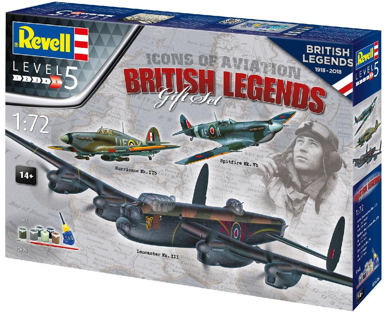 Сборная модель-копия Revell набор Авиа Легенды Британии уровень 5 масштаб 1:72 (RVL-05696)