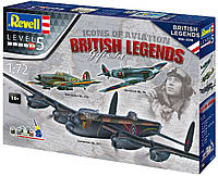 Сборная модель-копия Revell набор Авиа Легенды Британии уровень 5 масштаб 1:72 (RVL-05696), фото 1