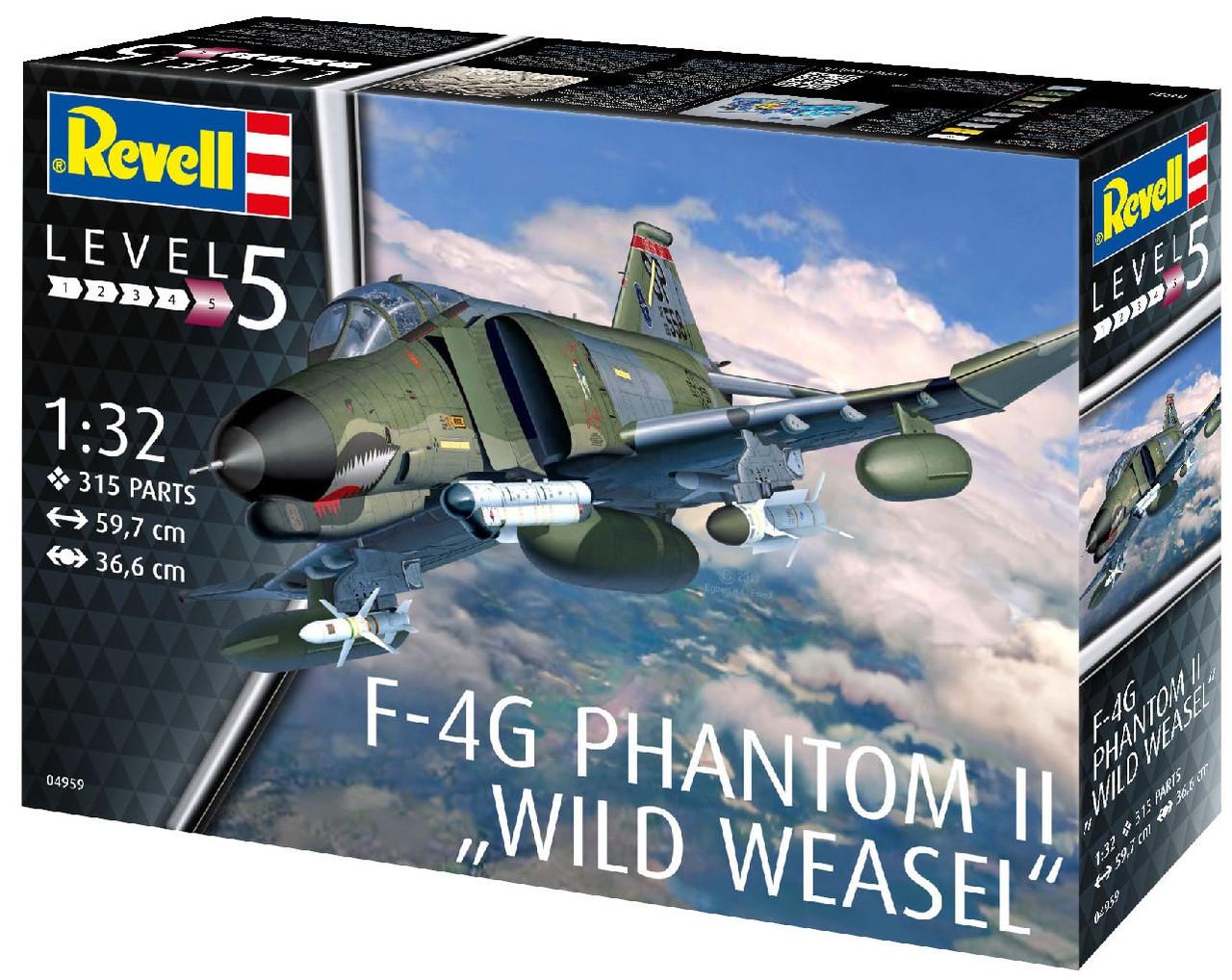 """Сборная модель-копия Revell Истребитель F-4G Фантом II """"Дикая ласка"""" уровень 5 масштаб 1:32 (RVL-04959)"""