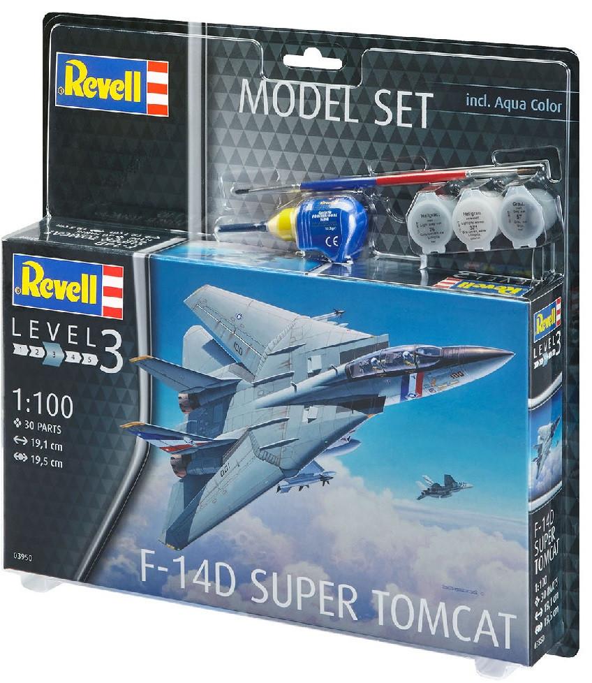Сборная модель-копия Revell набор Истребитель F-14D «Томкэт». Уровень 3 масштаб 1:100 (RVL-63950)