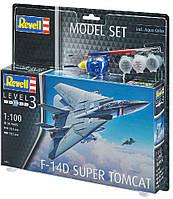 Сборная модель-копия Revell набор Истребитель F-14D «Томкэт». Уровень 3 масштаб 1:100 (RVL-63950), фото 1