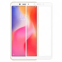 Защитное стекло Xiaomi Redmi 6A 5D Белый