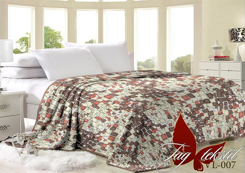 Плед покрывало 200х220 велсофт Гравий на кровать, диван