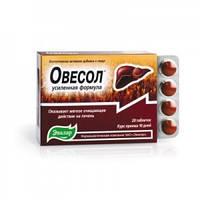 Овесол таблетки -Натуральный таблетки для печени, усиленная формула- Мягко очищает печень(таб.20шт Эвалар)