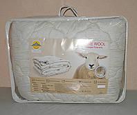 Двуспальное одеяло наполнитель овечья шерсть ткань микрофибра  (X-451)