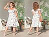 """Летнее миди-платье на запах """"Джасмин"""" с оборками (большие размеры), фото 3"""