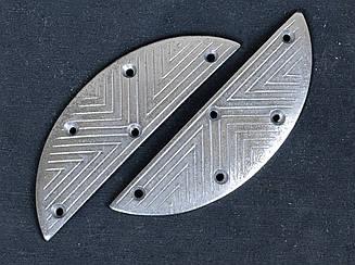 Набойка металлическая на мысок LULU №30, р.43х15х1,5мм