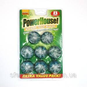 Шайбы в бачок Power House Лесной аромат 8 шт в уп.