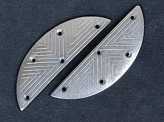 Набойка металлическая на мысок LULU №20, р.40х14х1,5мм