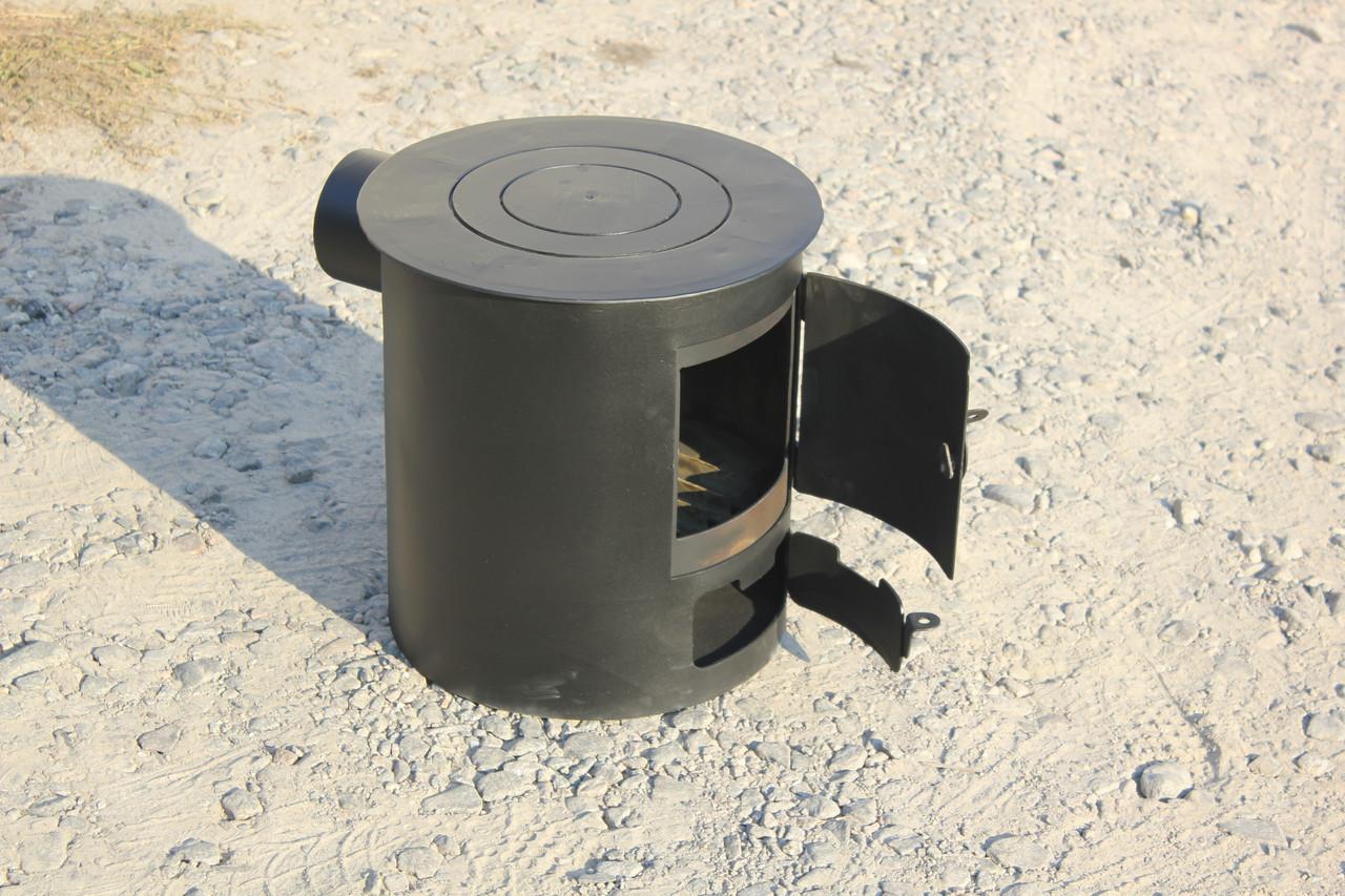 Буржуйка отопительно-варочная печь для быстрого обогрева и приготовления пищи из стали