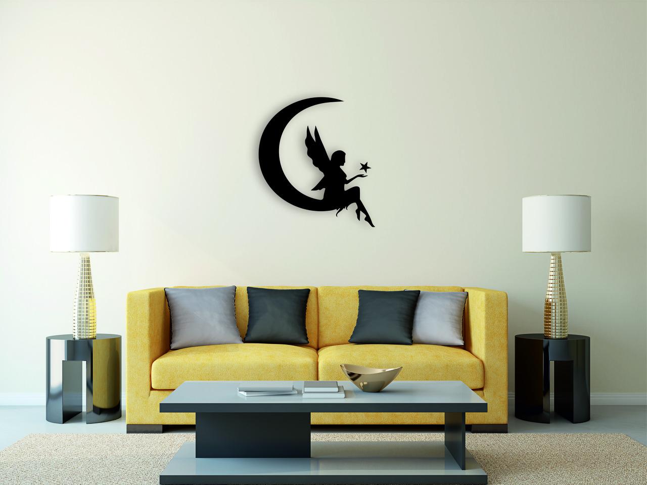 Деревянный декор на стену WHICH.BLACK Moon (75x67 см)