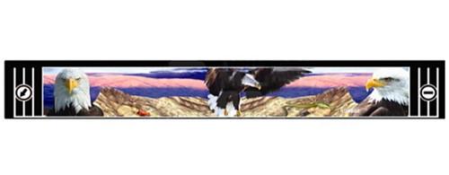"""Брызговик резиновый универсальный для грузовой прицепной техники с декоративным рисунком """"ОРЛЫ-2"""" (8684)"""