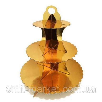 Подставка трёхярусная для капкейков, фото 2
