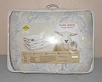 Двуспальное одеяло наполнитель овечья шерсть ткань микрофибра  (X-454)
