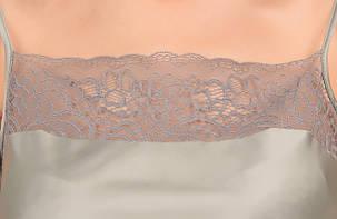Шелковая серая пижама Martelle Lingerie (майка с шортами), фото 2