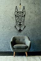 Деревянный декор на стену WHICH.BLACK Dog (75x33 см)