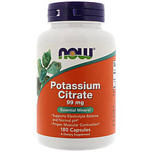 "Цитрат калия NOW Foods ""Potassium Citrate"" 99 мг (180 таблеток)"