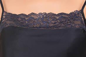 Шелковая пижама тёмно-синяя (майка с шортами) Martelle Lingerie, фото 3