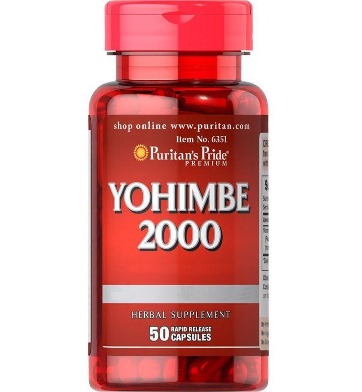 Йохимбин Puritan`s Pride Yohimbe 2000 50 caps