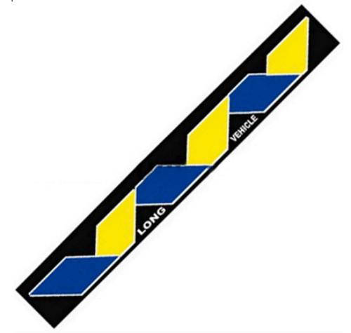 Брызговик резиновый универсальный для грузовой прицепной техники (350х2400мм) ЗМЕЙКА желто-голубая(8686)