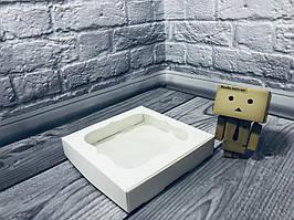 *10 шт* / Коробка для пряников / 150х150х30 мм / Белая / окно-обычн