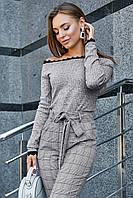 ✔️ Женская кофта с открытыми плечами 42-48 размера серая, фото 1
