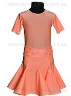 """Платье-бейсик для спортивно - бальных танцев """"11 Персик"""""""