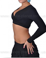 """Болеро з довгим рукавом для спортивно - бальних танців """"Чорний"""""""