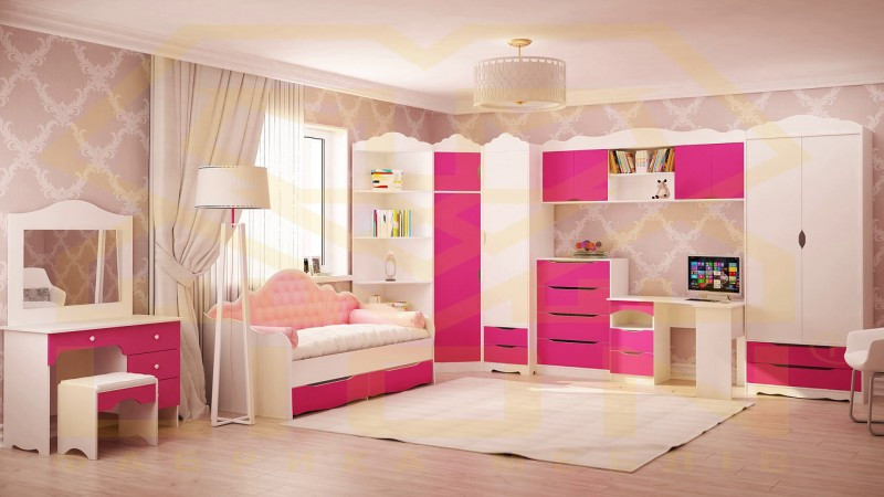 Мебель для детской Италия нимфея альба/малина (Лион) Киев