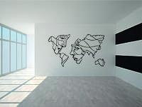 Деревянный декор на стену WHICH.BLACK Face world (115x65 см)