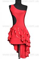 """Платье латина для спортивно - бальных танцев  """" красный"""""""
