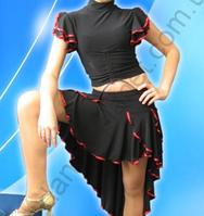"""Топ для спортивно - бальных танцев  """" Черный"""""""