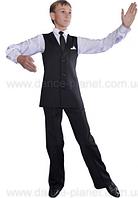 Жилет с лацканами для спортивно - бальных танцев