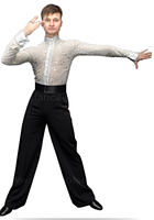 Брюки 'Латина'  для спортивно - бальных танцев
