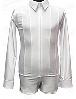 Рубашка мужская на замке 'Ювенал'  для спортивно - бальных танцев, не матовая