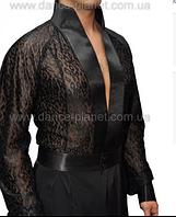 Рубашка латинская гип. с вырезом  для спортивно - бальных танцев