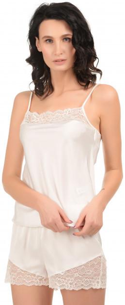 Шелковая кружевная пижама Martelle Lingerie (молочная)