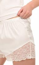 Шелковая кружевная пижама Martelle Lingerie (молочная), фото 2