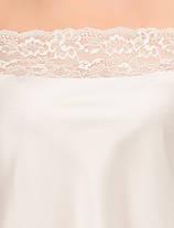 Шелковая кружевная пижама Martelle Lingerie (молочная), фото 3