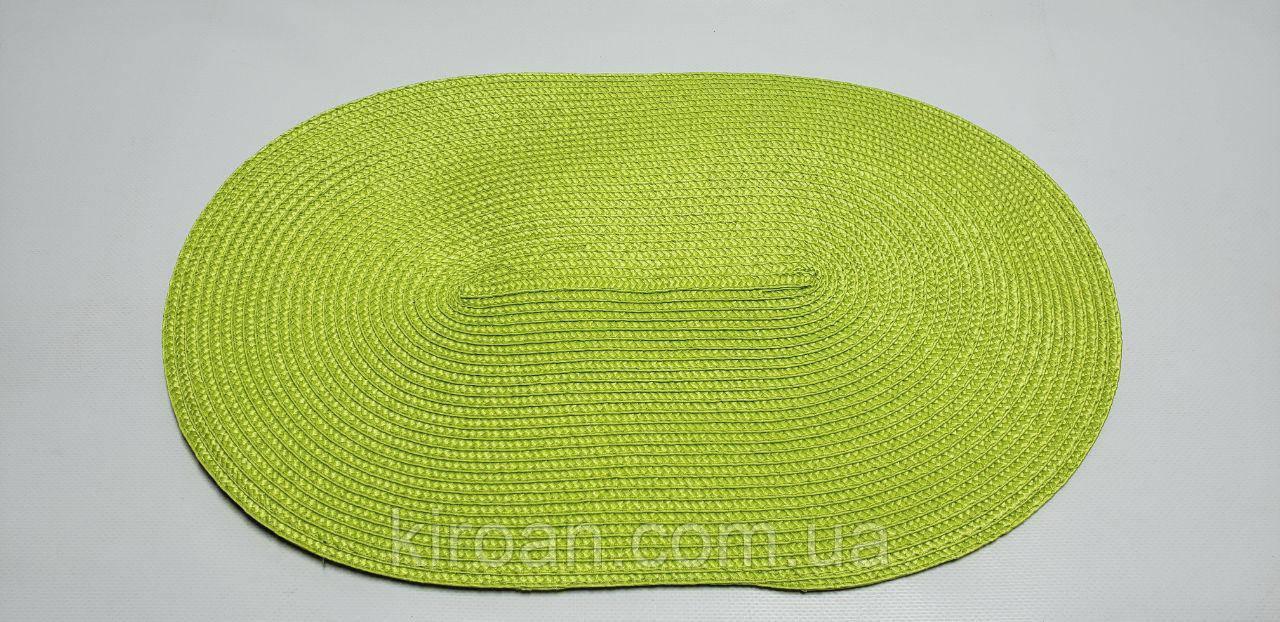 Овальная салфетка-подложка для сервировки стола ПВХ 45*29 см (салатовый)
