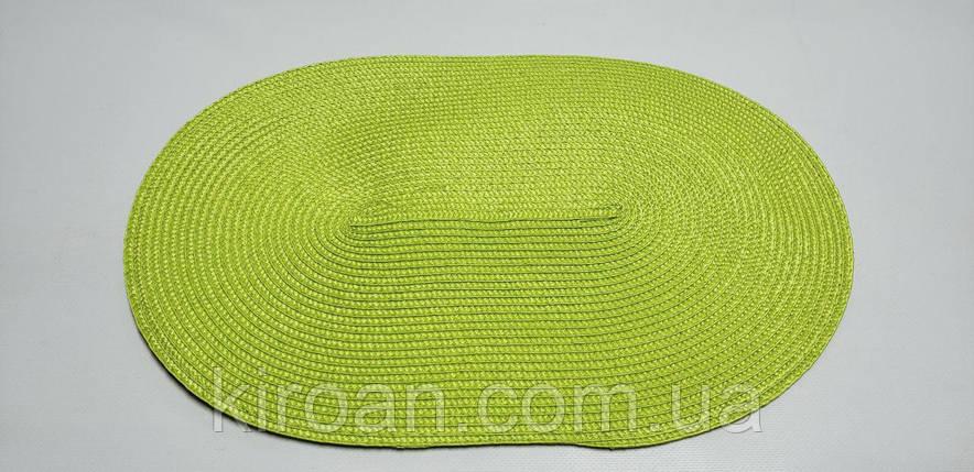 Овальная салфетка-подложка для сервировки стола ПВХ 45*29 см (салатовый), фото 2