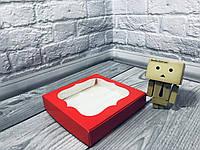 *10 шт* / Коробка для пряников / 150х150х30 мм / печать-Красн / окно-обычн, фото 1