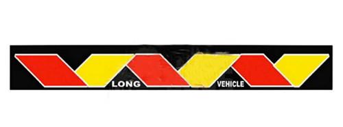 Брызговик резиновый универсальный для грузовой прицепной техники (350х2400мм) ЗМЕЙКА желто-красная(8687)